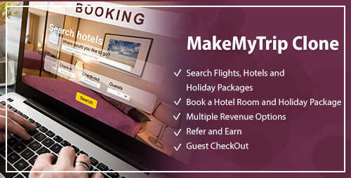 MakeMyTrip Clone, MakeMyTrip Clone Script PHP, Open Source